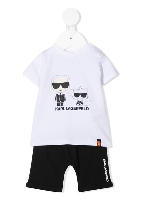 completo shorts e tshirt con stampa karl lagerfild kids KARL LAGERFELD KIDS | Completo | Z9807609B