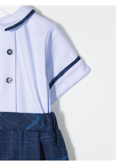 la stupenderia pagliaccetto con profili camicia a contrasto LA STUPENDERIA | Pagliaccetto | CBPG55Z28C24