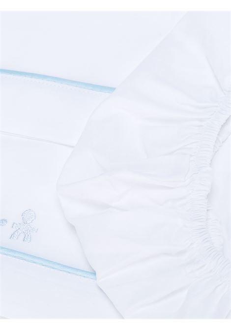 le bebe' lenzuola con ricamo logo LE BEBE'   Set lenzuola culla   LBB113621EB/A