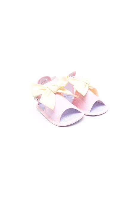 le bebe' sandaletto in tessuto con fiocco LE BEBE' | Sandalo | LBG3402R/G