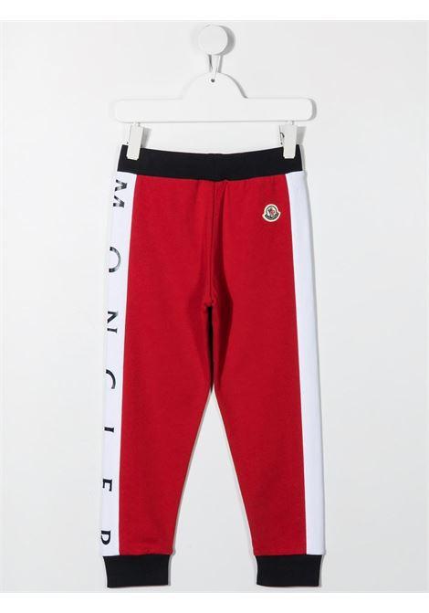 moncler pantalone in felpa con bande laterali con logo MONCLER | Pantalone | 9548H74120809AG742