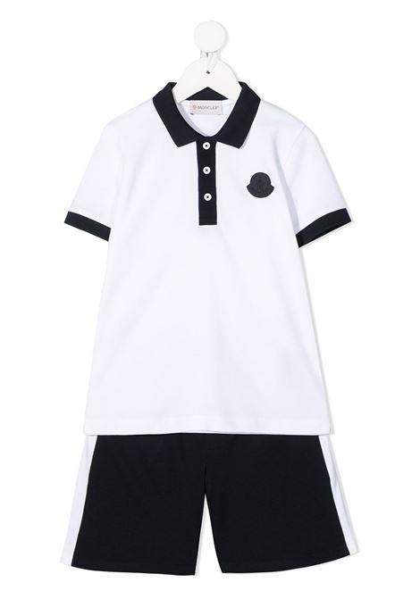 moncler polo con shorts con logo MONCLER | Completo | 9548M746208496W003
