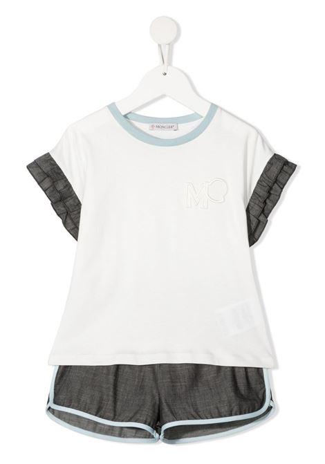 moncler tshirt con shorts con logo MONCLER | Completo | 9548M7481083907034
