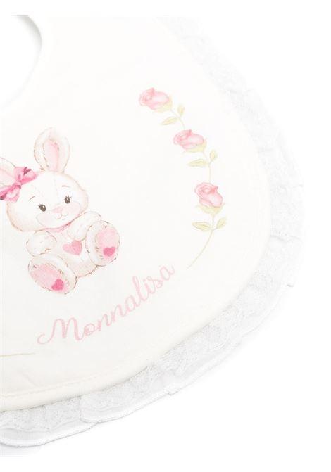 bavetta monnalisa in cotone con stampa bocciolini MONNALISA BEBE | Bavetta | 357001R570080001