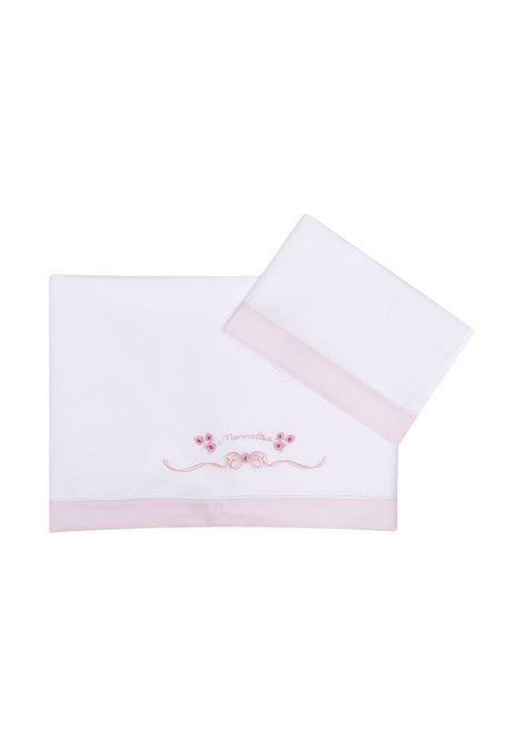 set lenzuola letto monnalisa in cotone stampa bocciolini MONNALISA BEBE | Set lenzuola culla | 357015R570560190