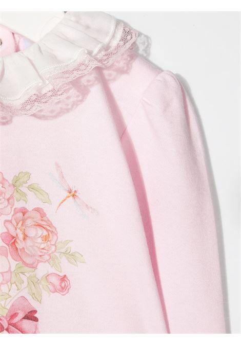 tutina monnalisa in cotone interlock con stampa rose colletto rouche MONNALISA BEBE | Tutina | 357201S770080090