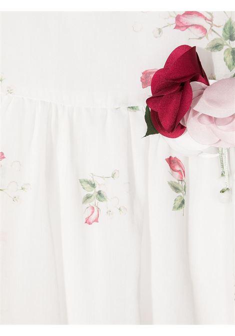 abito monnalisa chic con maniche a palloncino con stampa mazzolino di rose MONNALISA CHIC | Abito | 717915F676200001