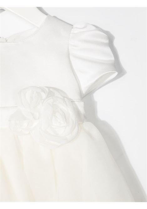 abito monnalisa chic emy in duchesse con bouquet MONNALISA CHIC | Abito | 737902F471320001