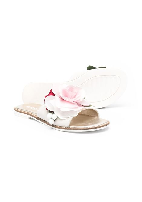 sandalo monnalisa rose chic in velour MONNALISA CHIC | Sandalo | 87701177090149T