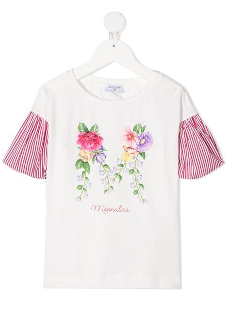 tshirt monnalisa in jersey con manica a palloncino in tessuto MONNALISA | Tshirt | 117607SF72010001