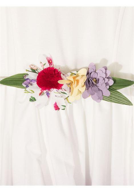 abito monnalisa bouquet in popeline stampa fiori love MONNALISA | Abito | 1179077606A0001