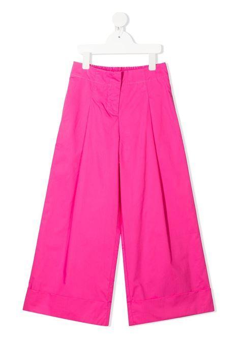 pantaloni monnalisa in popeline gamba larga MONNALISA | Pantaloni | 177400R170200095