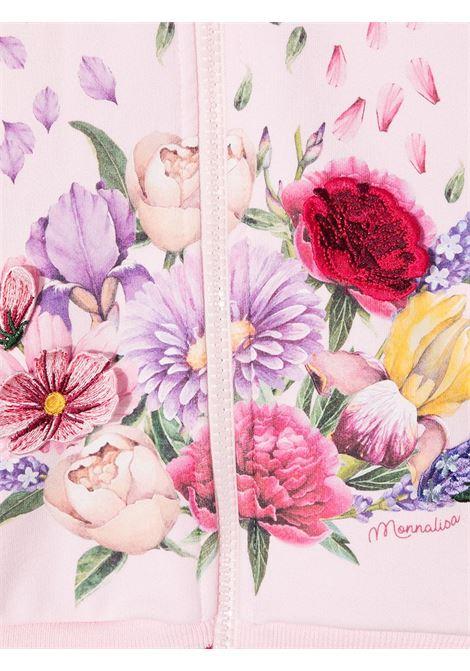 felpa aperta monnalisa con ricamo botanico MONNALISA   Felpa aperta   197800S270010090