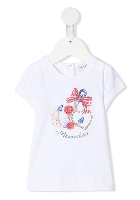 t-shirt monnalisa con stampa MONNALISA | Tshirt | 397610SX70100099