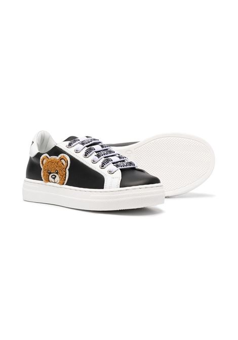 moschino sneakers con orsetto applicato e laccio parlato MOSCHINO KIDS | Sneakers | 6749701