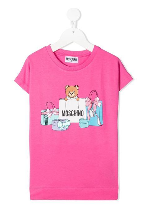 maxi tshirt moschino junior MOSCHINO KIDS | Tshirt | HBM02VLBA0050533