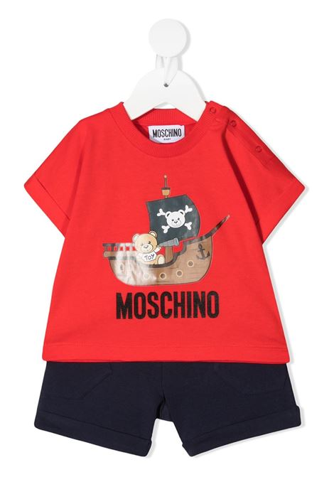 completo t-shirt e short moschino baby MOSCHINO KIDS | Completo | MUG009LBA0883403