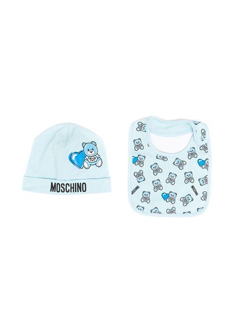 set bavetta con cappello moschino baby MOSCHINO KIDS | Set bavette | MUY03ELBB5682162