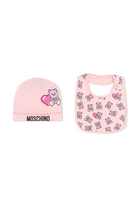 set bavetta con cappello moschino baby MOSCHINO KIDS | Set bavette | MUY03ELBB5683343