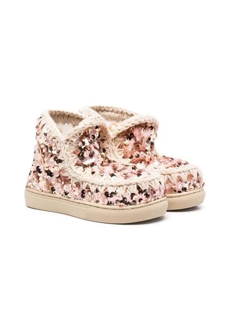 mou kids eskimo sneaker sequins tone on tone MOU KIDS | Sneakers | SK111001GSEQPP