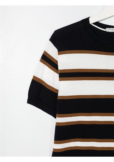 paolo pecora maglia in filo a fasce Paolo pecora | Maglia | PP2594BLT