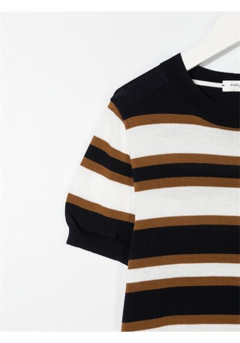 paolo pecora maglia in filo a fasce Paolo pecora | Maglia | PP2594BL