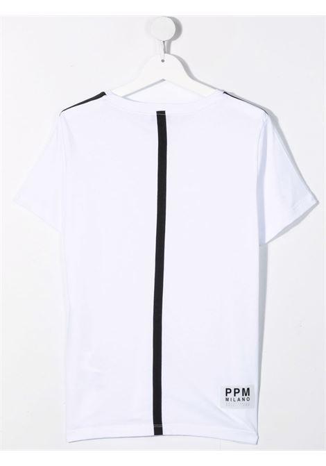paolo pecora tshirt con banda su spalla a contrasto Paolo pecora   Tshirt   PP2662B/NT
