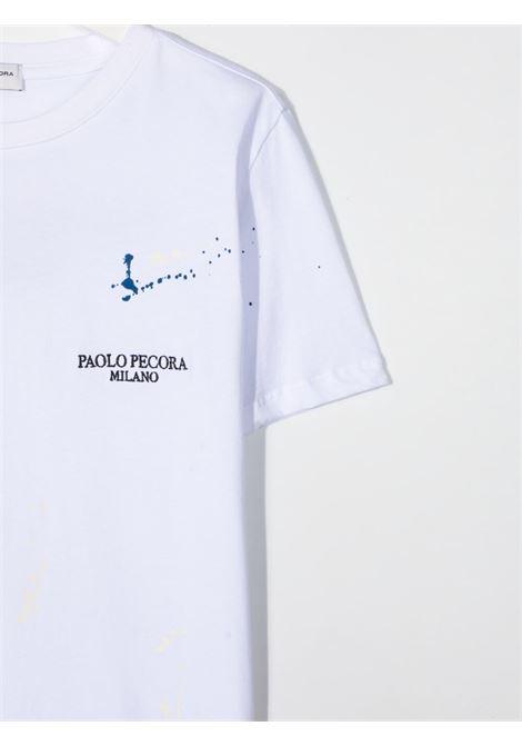 paolo pecora tshirt con stampa con particolare pittura Paolo pecora | Tshirt | PP2673BIT