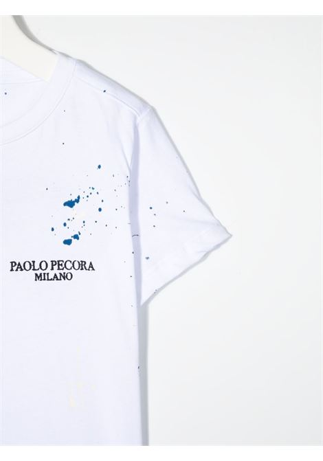 paolo pecora tshirt con stampa con particolare pittura Paolo pecora | Tshirt | PP2673BI