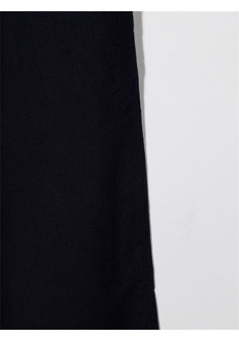 paolo pecora pantalone in lino con coulisse Paolo pecora | Pantalone | PP2709BL