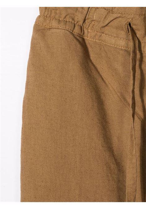paolo pecora pantalone in lino con coulisse Paolo pecora | Pantalone | PP2709BR