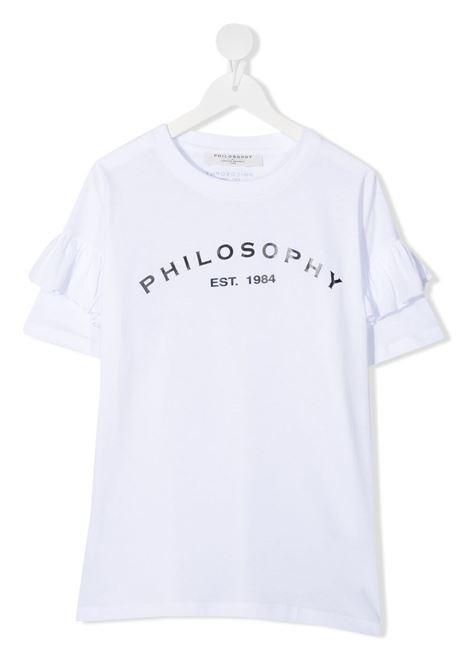 philosofy kids tshirt con manica rouches e stampa logo Philosofy kids   Tshirt   PJTS54JE138WH100B051T