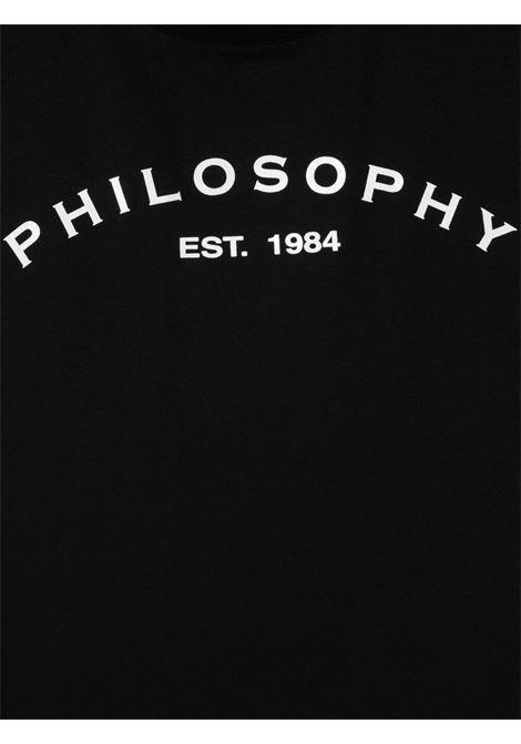 philosofy kids tshirt con manica rouches e stampa logo Philosofy kids   Tshirt   PJTS54JE138WH100N051T