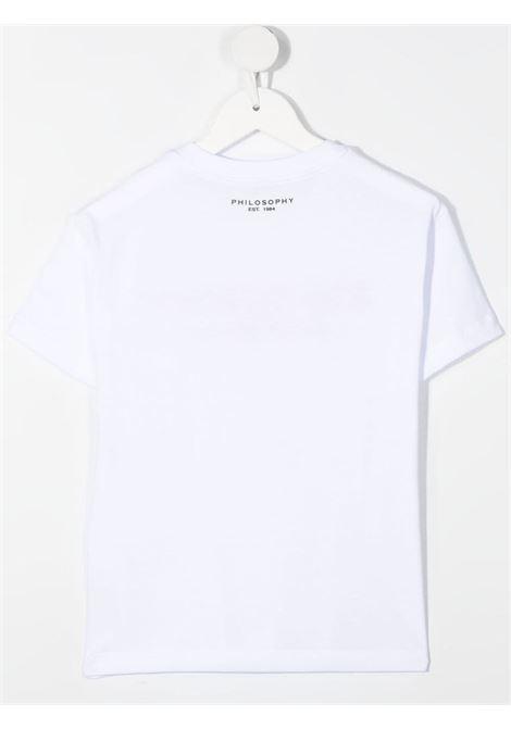 philosofy kids tshirt con ricamo Philosofy kids | Tshirt | PJTS55JE138WH101B052