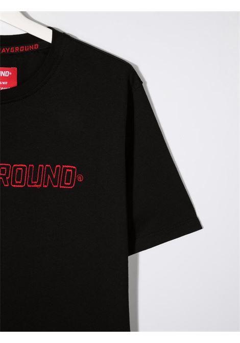 sprayground kids tshirt con ricamo scritta logo Spraygroud kids   Tshirt   21PESPY180BLKT