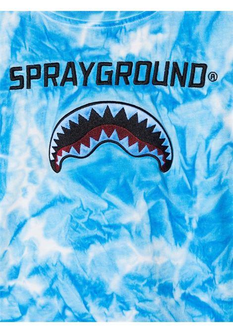sprayground kids tshirt con ricamo logo Spraygroud kids   Tshirt   21PESPY181SKY