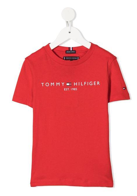 tommy hilfiger tshirt con scritta logo TOMMY HILFIGER | Tshirt | KB0KB05844XNL
