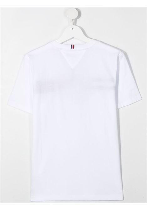 tommy hilfiger tshirt con scritta logo TOMMY HILFIGER | Tshirt | KB0KB06532YBRT