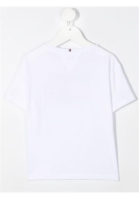tommy hilfiger tshirt con stampa e scritta logo TOMMY HILFIGER | Tshirt | KG0KG05909YBR