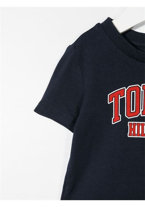 tommy hilfiger tshirt con stampa scritta logo TOMMY HILFIGER | Tshirt | KN0KN01272C87