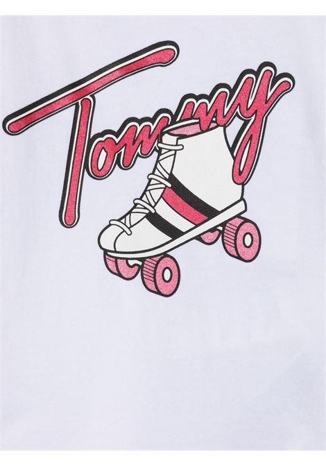 tommy hilfiger tshirt con stampa scritta logo TOMMY HILFIGER | Tshirt | KN0KN01296YBR