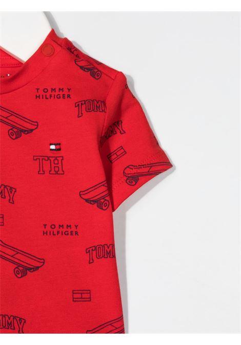 tommy hilfiger salopette con tshirt con logo TOMMY HILFIGER | Salopette | KN0KN013391A4