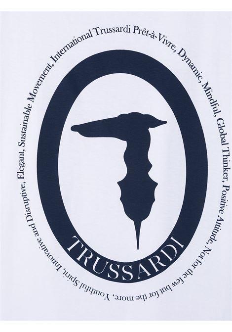 trussardi junior tshirt con stampa over shatt Trussardi junior | Tshirt | TBP21088TSW1052T