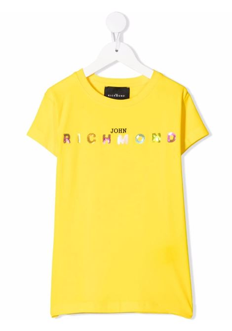 john richmond tshirt con scritta logo in pailettes multicolor john richmond   Tshirt   RGP21123TSW0830
