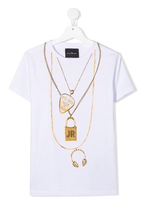 john richmond tshirt con stampa collana john richmond | Tshirt | RGP21191TSW0150