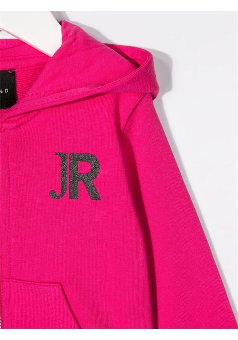john richmond felpa aperta con cappuccio con stampa logo john richmond | Felpa | RIP21086FEW0486