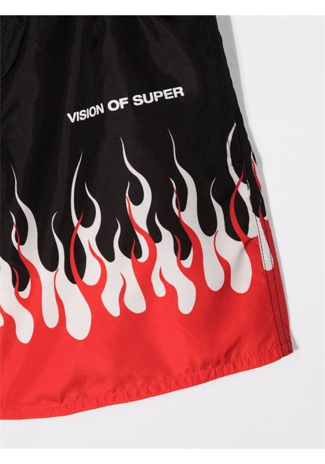 vision of super | Swim suit | KSSWINFLREDBLK