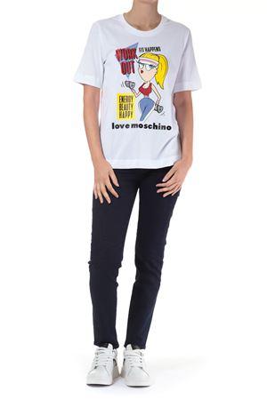 T-Shirt con stampa Love Moschino | 30000055 | W4F152MM3876BIANCO
