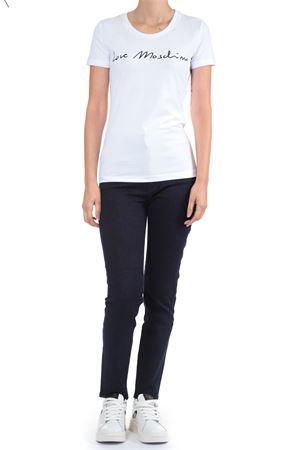 T-Shirt con scritta Love Moschino | 30000055 | W4H1901E1951BIANCO