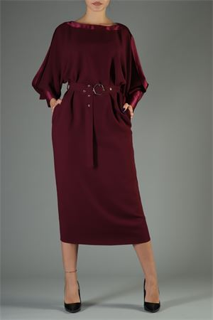 Abito Space Simona Corsellini. Space Simona Corsellini | 30000047 | MAB046BURGUNDY